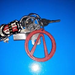 borderlands keychain on keys pic 1.jpg Download free STL file Borderlands keychain • 3D printing template, M3DPrint