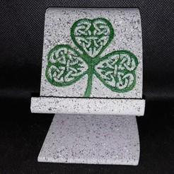 Stone look shamrock.jpg Download STL file Celtic Shamrock Phone Stand • 3D printable design, M3DPrint