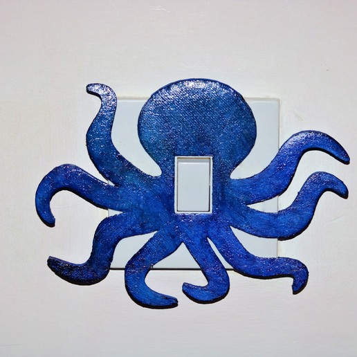 Download 3D printing templates Octopus light switch cover , M3DPrint