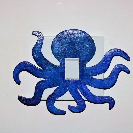 Télécharger fichier STL Couvercle d'interrupteur d'éclairage octopus, M3DPrint