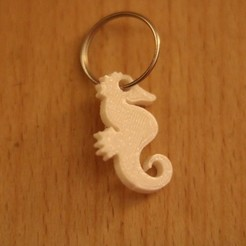 Free 3D print files Sea horse Keychain, M3DPrint