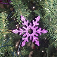 Snowfake pic 1.jpg Download STL file Snowflake Tree decorations • 3D printer model, M3DPrint