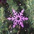 Télécharger plan imprimante 3D Décorations d'arbre de flocon de neige, M3DPrint