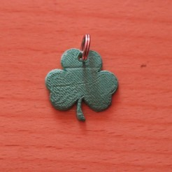 Free 3d printer files Shamrock keychain, M3D-Print