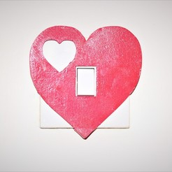 Download 3D printer designs Heart light switch cover, M3DPrint