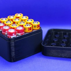 BATTERY BOX AA PIC.jpg Download STL file 16x AA Battery box • Design to 3D print, M3DPrint
