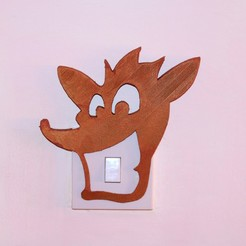 Download free 3D printer designs Crash bandicoot light switch cover , M3DPrint