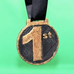 first medal pic 3.jpg Download free STL file 1st place medal • 3D printer object, M3DPrint