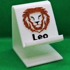 Download 3D printing models Leo zodiac phone stand, M3DPrint