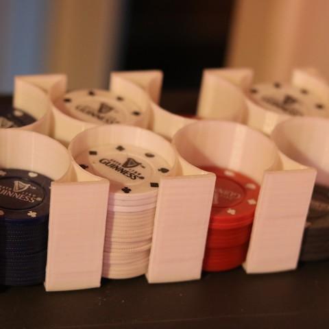 3D printing model poker chip Holder, M3DPrint