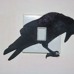 Download STL files Raven light switch cover, M3DPrint