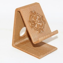 STL Celtic Cross Phone stand, M3DPrint