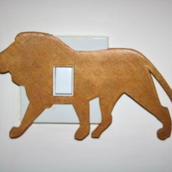 Download 3D printer designs Lion lightswitch cover , M3DPrint