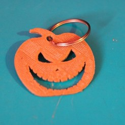 Download free 3D printing templates pumpkin keychain, M3DPrint