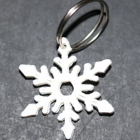 Télécharger fichier STL gratuit Porte-clés flocon de neige • Design à imprimer en 3D, M3DPrint