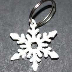 Download free 3D printer files Snowflake Keychain, M3DPrint