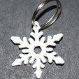 Download free 3D printer files Snowflake Keychain, M3DPrint