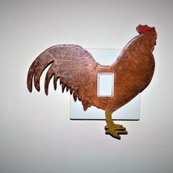 chicken lightswitch pic.JPG Télécharger fichier STL Couvercle de l'interrupteur de la lampe Chicken Lightswitch • Modèle pour imprimante 3D, M3DPrint