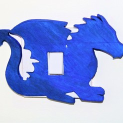 Lil'Dragon lightswitch pic.jpg Télécharger fichier STL Couvercle d'interrupteur Lil'Dragon Light • Design à imprimer en 3D, M3DPrint
