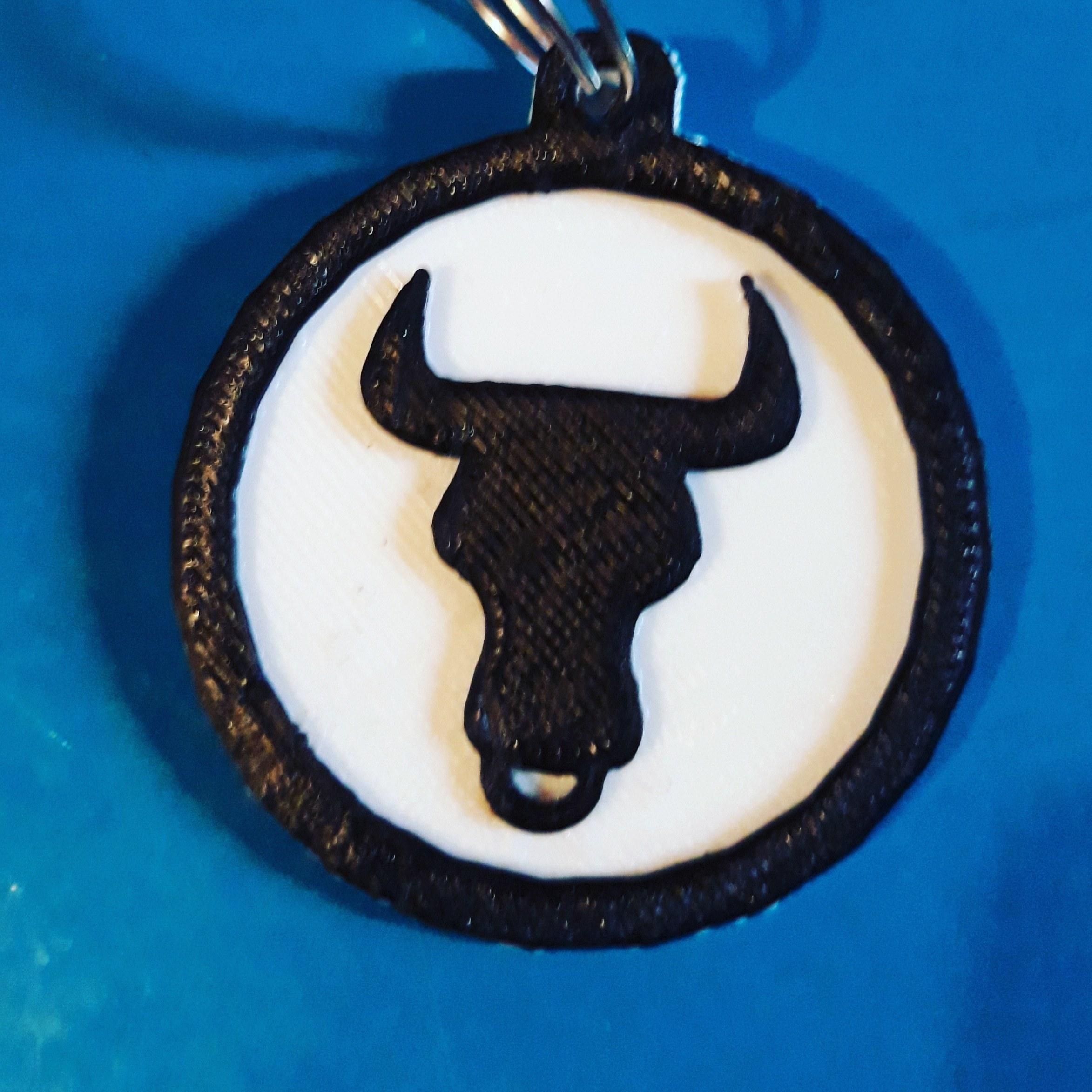 taurus keychain pic.jpg Télécharger fichier STL gratuit Porte-clés Taurus • Plan pour imprimante 3D, M3DPrint