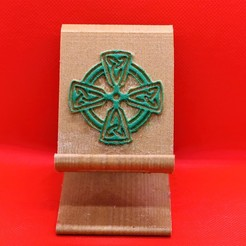 Download 3D printer files Celtic Cross Phone stand, M3DPrint