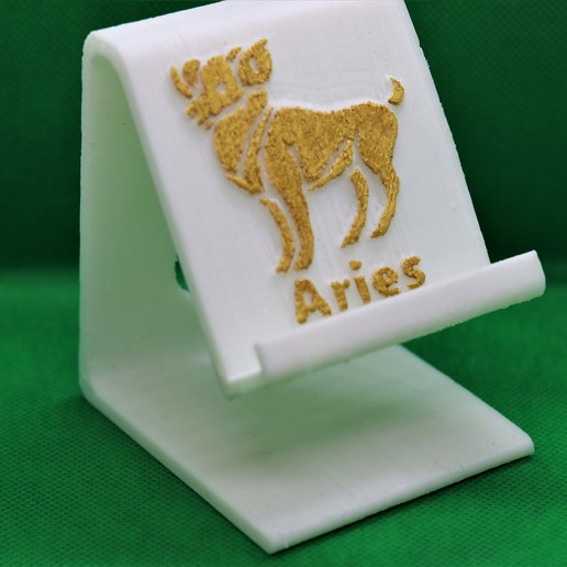 Aires Phonestand pic gbg ws.jpg Download STL file Aries Phone stand • 3D printable design, M3DPrint