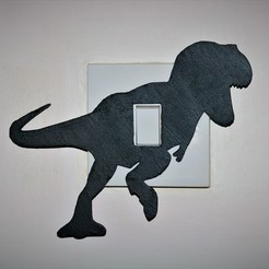 Download 3D printer designs T-Rex lightswitch cover, M3DPrint