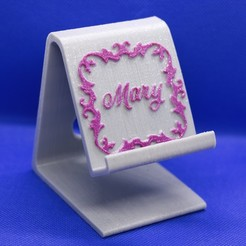 Mary phone stand pic 1.jpg Download STL file Mary phone stand • Design to 3D print, M3DPrint