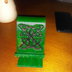 Download 3D printing templates Celtic Phone Stand , M3DPrint