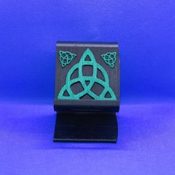trinity stand phone stand pic.jpg Download STL file Celtic trinity phone stand • 3D print object, M3DPrint
