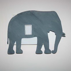 Download 3D printer files Elephant lightswitch cover , M3DPrint