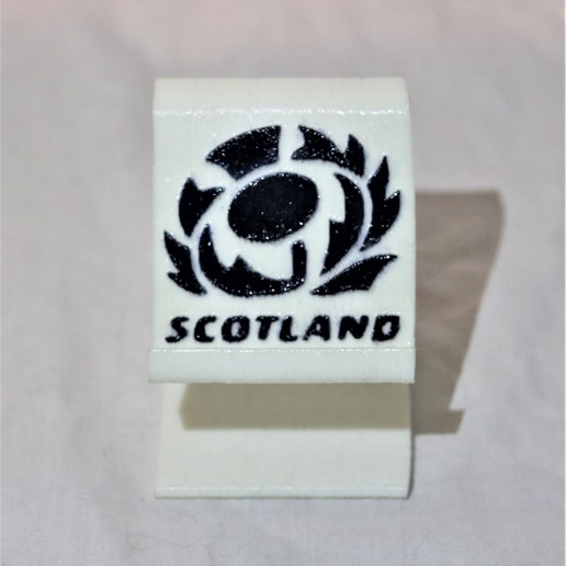 Download free STL file Scotland rugby phone stand  • 3D printer model, M3DPrint
