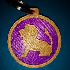 Free 3D printer files Leo Keychain, M3D-Print