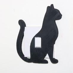 Download 3D printer designs Cat lightswitch cover, M3DPrint