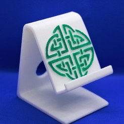 Download 3D model Celtic circle knot phone stand, M3DPrint