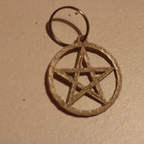 Free STL files Pentagram keychain, M3DPrint