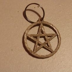 Download free 3D printer templates Pentagram keychain, M3DPrint