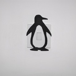 Download STL files Penguin Light switch Cover, M3DPrint
