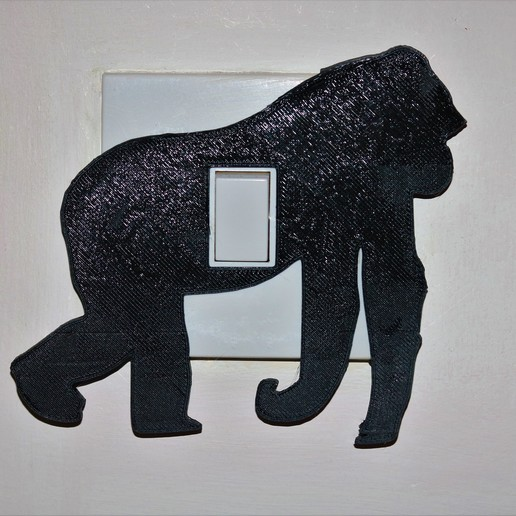 Download 3D printing designs Gorilla light switch cover, M3DPrint