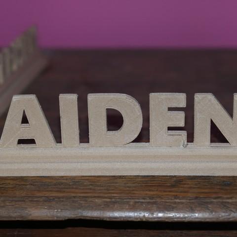 Free STL Aiden, M3DPrint
