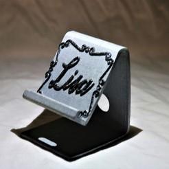 lisa stand sideways.jpg Download STL file Lisa phone stand  • 3D print design, M3DPrint