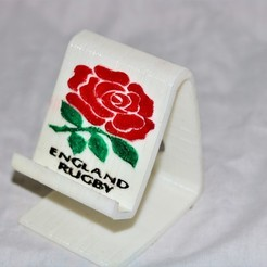 Download free 3D printing templates England rugby phonestand, M3DPrint