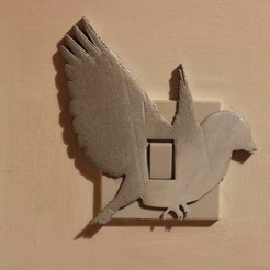 3d printer designs Dove light switch cover, M3D-Print