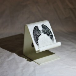 Descargar modelos 3D Soporte de teléfono para alas de ángel, M3DPrint