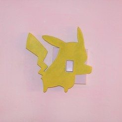 Download free 3D printer files Pikachu lightswitch cover, M3DPrint