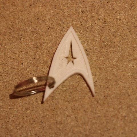 Free 3D printer files Startrek Keychain, M3DPrint