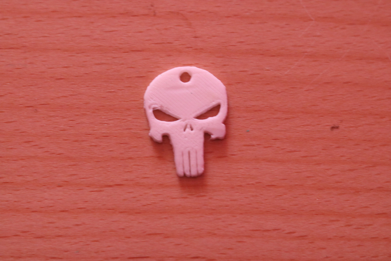 IMG_0306.JPG Download free STL file Punisher Keychain  • 3D printing model, M3DPrint