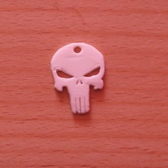 Free 3d printer model Punisher Keychain , M3D-Print