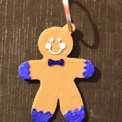 Free 3d printer model gingerbread man keychain, M3D-Print