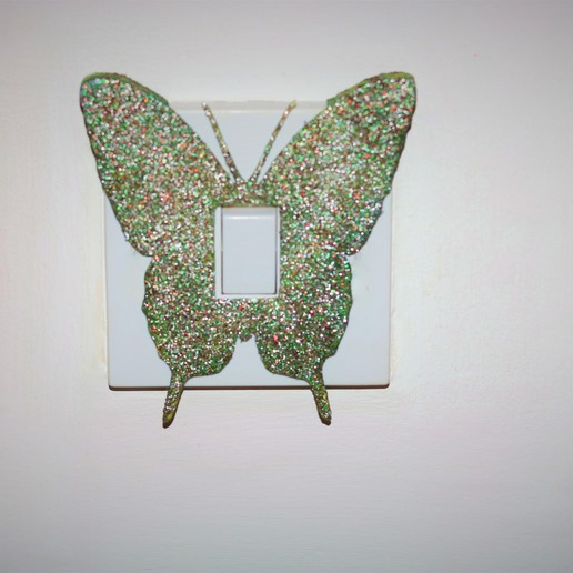 Download 3D printing models Butterfly light switch cover, M3DPrint